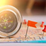 Choosing-destination-map-compass-concept