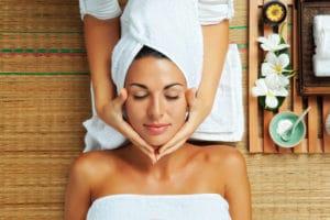 Woman-in-resort-spa