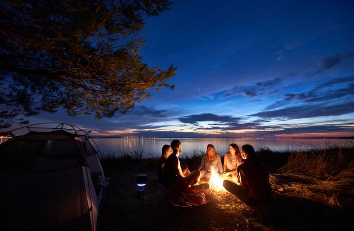 team-around-campfire