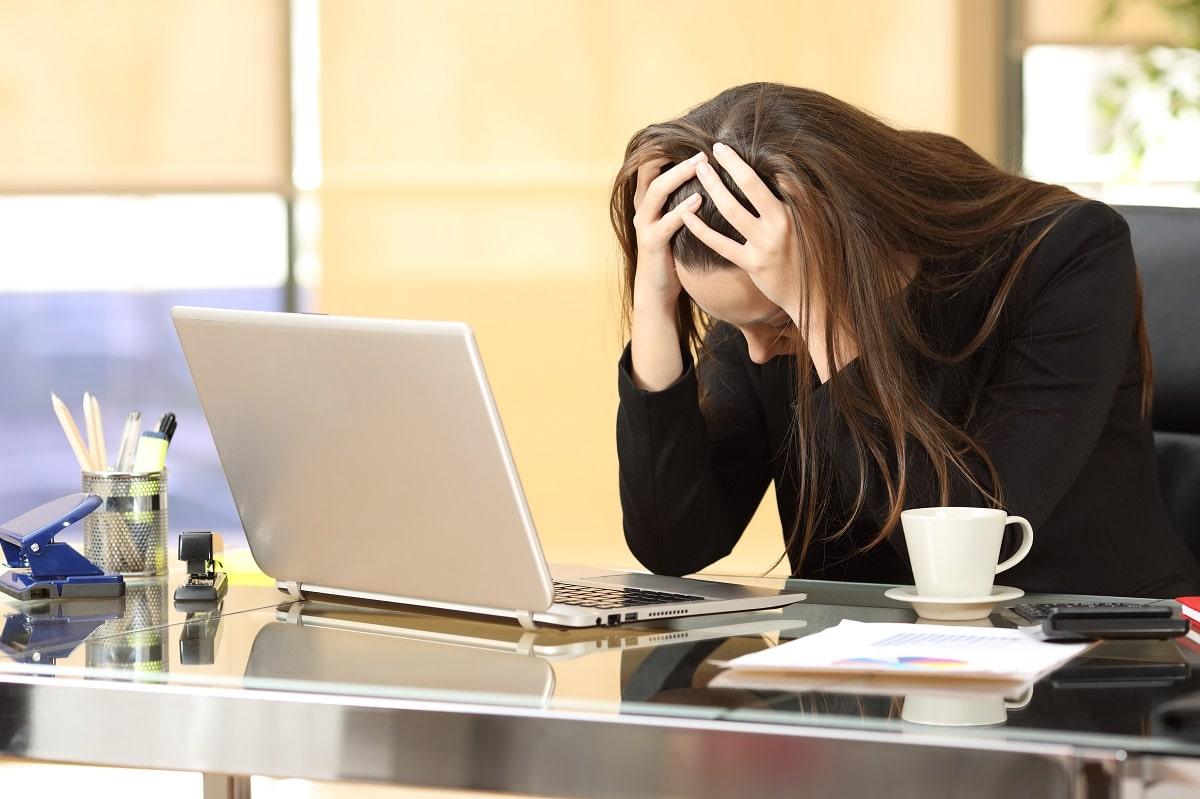 Job burnout concept